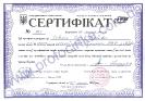 Сертифікат оцінювача  Северін О.К. (МФ, ЦМК)