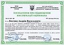 Посвідчення про підвищення кваліфікації оцінювача Костик А.В, 2019 (МФ)